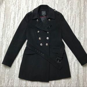 Forever 21 Black Trench Coat size Medium